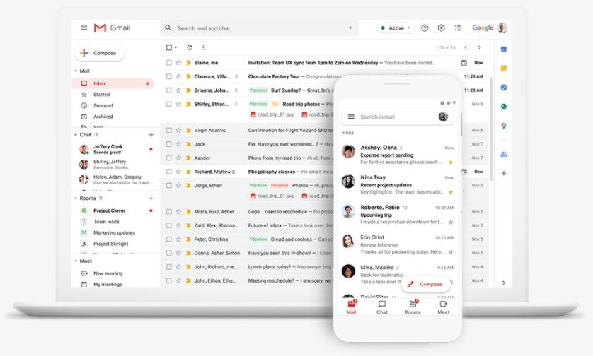 O ambiente do Google Workspace permite trabalhar de qualquer dispositivo conectado à Internet.